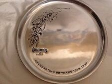 Community Coffee 80th Anniversary Platter By Pewtarex 1999 Rare