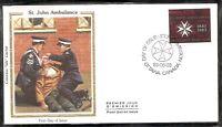 Canada SC # 980 St John Ambulance FDC. Colorano Silk Cachet