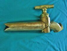 ancien robinet conique en bronze- art-déco- pour fontaine ou tonneau