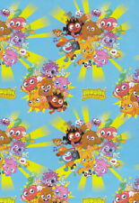 """Official Licensed """"MOSHI MONSTERS"""" Gift Wrap Sheets And Tags x 2"""
