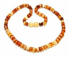 Unique Genuine Raw Natural Baltic Amber Adult Necklace Teens Boys 41 cm