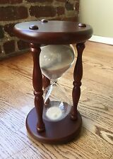 "hourglass 9"" sand hardwood 60 minutes"