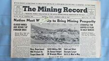 New listing 1958 Mining Record-Cripple Creek Colo Vindicator Mine-Buckskin Joe Mine Alma