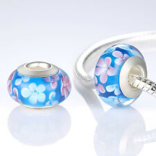 HOT Design Authentic 925 Silver Murano Glas Beads Charm fit European Chain D#590