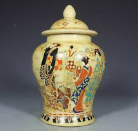 CHINESE HANDWORK PAINTING BELLE OLD PORCELAIN POT