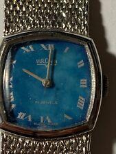 WATCH BLOWOUT: Vintage VULCAIN Blue Face Swiss Winding Watch WORKS RFT-30