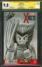 X Men 5 CGC SS 9.8 Stan Lee Wolverine 1 Limited series Homage Lego Variant