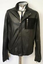 Men's LOT 78 Giacca in Pelle Ethan EU52 Grande/Xl Rrp £ 695 Cappotto Veste Cuir