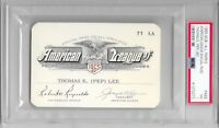 "1965 MLB AMERICAN League Annual Ball Park THOMAS ""PEP"" LEE Ticket SCOUT Baseball"