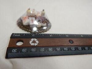 Dollhouse Miniature 1:12 Scale Vanity Tray Lotion Perfume Bottles #Z301 Lt Pink