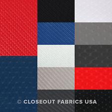 "Carbon Fiber & Embossed Diamond Marine Vinyl Fabric Upholstery Auto - 54"" W"