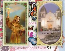 Saint St. Junipero Serra - Quote from St Junipero Serra - Laminated  Holy Card