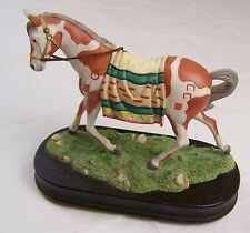 "1994 San Francisco Music Box Company ""Born Free"" Indian Painted Horse Figurine"