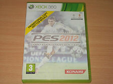 Pro Evolution Soccer 2012 PES 12 2K12 (Microsoft Xbox 360, 2011) No Manual