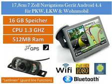 Elebest 17,8cm 7 Zoll Navigation,Radar,TMC,WIFI,Bluetooth,Rückfahrkamera