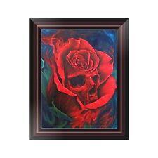Skull Flower DIY 5D Diamond Embroidery Painting Cross Stitch Home Decor Craft