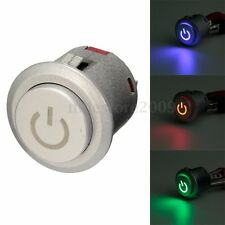 DC 12V 22mm Car Boat LED Power Logo Push On Button ON / Off Engine Start Switch