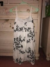 J.Crew Black white embroidery Dress Size 2