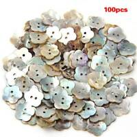 100 x 15 mm Pearl Mussels Round Buttons A8O3