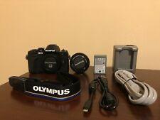 Olympus OM-D E-M10 Mark III Mirrorless Digital Camera w/ 14-42 EZ Lens Kit Black
