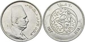 EGYPT , 20 PIASTRES KING FUAD FOUAD 1923 WITHOUT H  ( CO3 ) HIGH GRADE , RARE