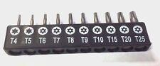 6 Point Star security screwdriver Bit Set hexalobe torx with hole tamper proof