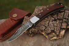 Damast Taschenmesser,  Damascus Folding Knife #78T