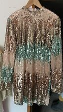 Girl In Mind Ladies Sequin Dress Fully Lined Size 14 (12)