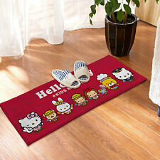 Hello Kitty Non-slip Kitchen Bathroom Floor Room Skidproof Door Mat Plush Rugs