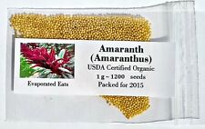1200 USDA Organic Amaranth Grain Sprouting Seeds Non GMO Freshly Packed For 2017