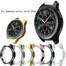 For Samsung Gear S3 Frontier/Galaxy Watch 42mm 46mm TPU Case Bumper Electroplate