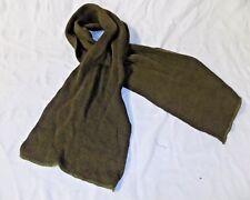 US Army Flat Knit Wool Scarf USGI Military Cold Weather OD Green