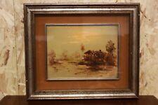 Dipinto / quadro olio su tavola raffigurante paesaggio pittore bresciano firmato