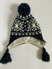 CARTERS toddler boys 2T - 4T Navy Blue Fair Isle WINTER HAT with tassels
