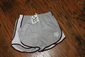 Women's Collegiate Outfitters Gray Texas A&M Aggies ATM Running Shorts Size S