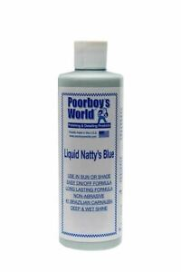 Poorboy's Natty's Blue Liquid Wax 473ml 16oz Brand New