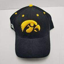 Iowa Hawkeyes Top Of The World B1G Hat Cap Black Adult Used Strapback Bl7