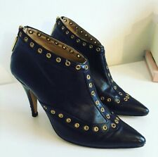 Jimmy Choo Black Leather boots With Gold Detail
