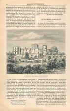Porte du Château de La Tour-d'Aigues le Vaucluse Dessin de Lancelot GRAVURE 1866
