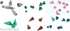 Surgical Steel Spike Cone Replacement End Balls Colourful Body Piercing Jewelry