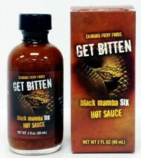 Get Bitten Black Mamba 6 Hot Sauce by CaJohns Fiery Foods
