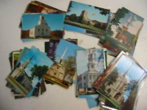 100 Church Postcard Lot