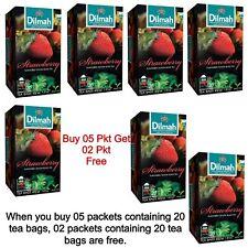 DILMAH STRAWBERRY FLAVOURED CEYLON 100 TEA BAGS+Free 40 TEA BAGS (210g 7.40Oz)