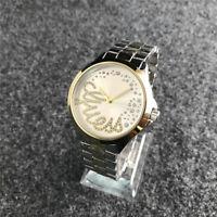 New Women's Dress Stainless steel Crystal drill Quartz Bear Wrist Watch
