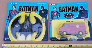 Batman Batwing & Joker Van 1:48  Ertl 1989 Die-cast Metal ( 2-Pack ) NEW  SEALED