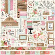 (1) 12x12 Sheet of Carta Bella Paper FARMHOUSE MARKET Scrapbook Element Stickers
