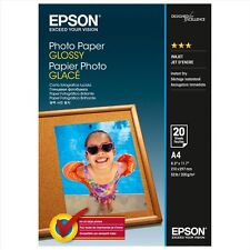 Epson (A4) 210 x 297 mm Glossy Photo Paper 200g/m2 (20 Sheets) for Expression