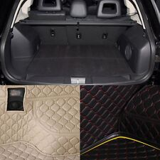PU Leather Rear Trunk Cargo Liner Protector Mat Seat Back Cover For Jeep Compass