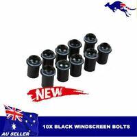 10Pcs Black Windscreen Windshield Motorcycle Bolt Kit Wind Screen Bolts Screws