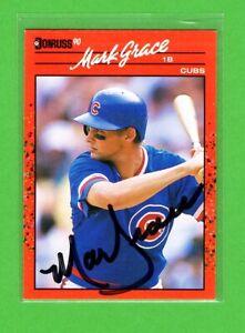 LOT 16 MLB SIGNED AUTOGRAPH BASEBALL CARD DUNSTON GRACE KEY TANANA OLERUD WILSON